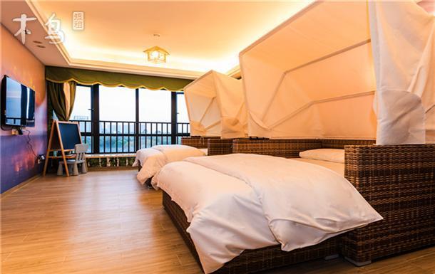 [静栖]毗邻长隆景区,步行到达大马戏一沙滩主题双床房