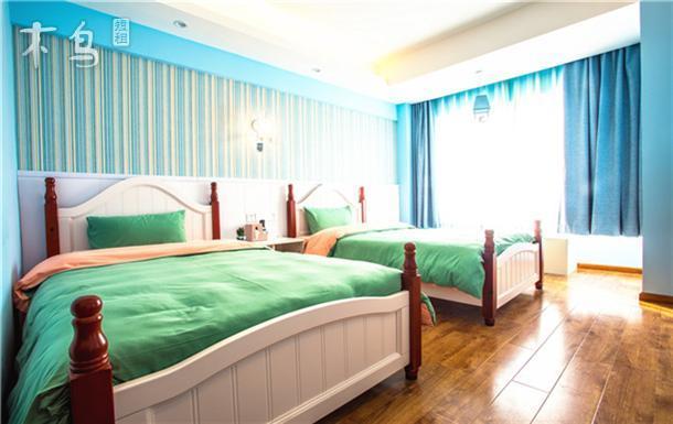 成都熊猫基地 地中海标间双床房