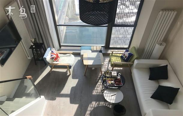 北京通州北关,新光大复式一居室,阳光大床