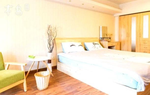 外滩城隍庙南京路文艺一居舒适大床带飘窗
