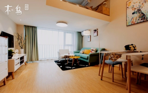 金地广场loft公寓 温馨大床双床房 地铁2号线