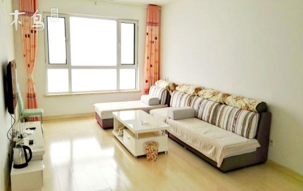 青岛金沙滩景区中心海景三居室