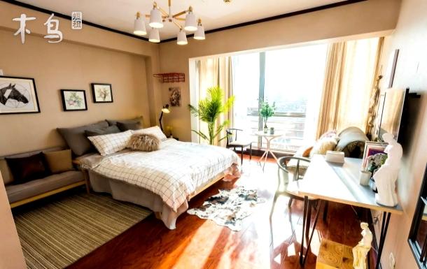 好心情】阳光极好 高层落地窗公寓 步行到三里屯太古里
