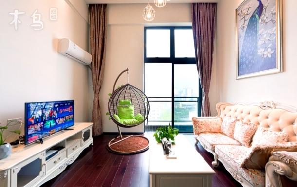 汉溪长隆 星河湾酒店旁 豪华装修 欧式风格双床房