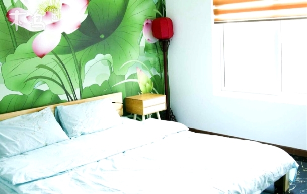 威海国际海水浴场超大别墅世外桃源大床房家庭