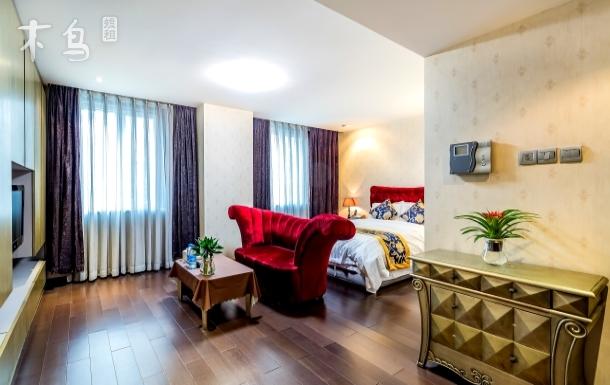 欧式大床房亚运村鸟巢国家会议中心温馨公寓