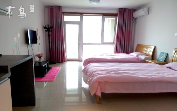 度假一居室离海滩200米 景观房大阳台