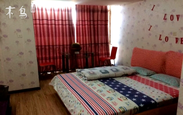 万达 爱琴海购物广场旁大床房