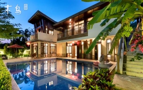 亚龙湾超大泳池5居别墅