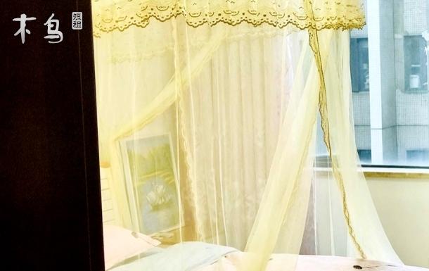 【晨曦民宿】万达广场欧尚家乐福2号线园林式小区住宅主卧