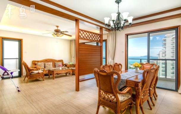 三亚湾椰梦长廊温馨全海两房一厅