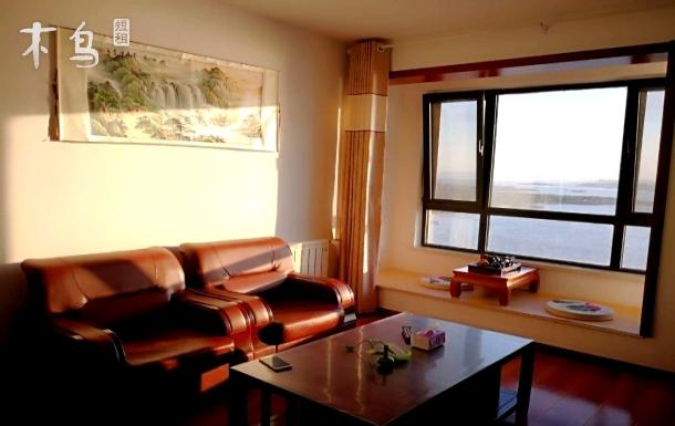 金沙滩、唐岛湾公园270度海景大床房
