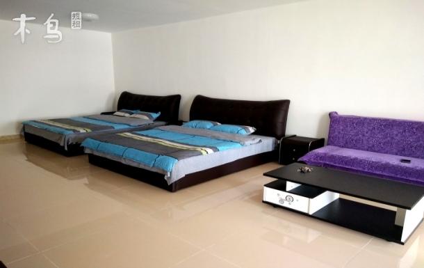 海边百米双床房88平米