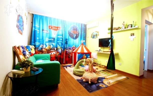迪士尼免费接送-玩具乐园两室两厅主题套房
