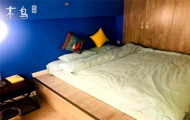 北欧风-豪华精装大床房--loft新光大中心 地铁6号线北关站-近机场  北京站