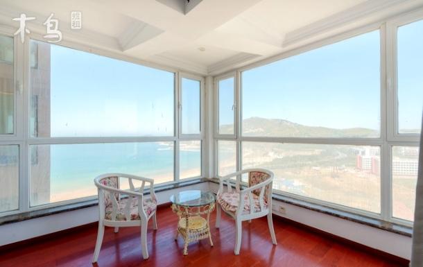 国际海水浴场高层海景3卧坐看大海即邻哈工大