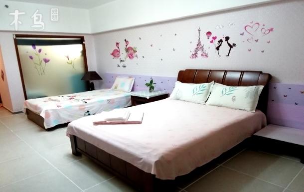 三亚湾椰梦长廊粉色公主亲子房