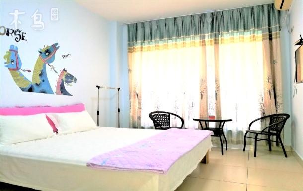 三亚湾全景观海公寓温馨海景大床房赠免税店免费接送