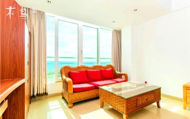 海域中央阳光海景家庭套房(两房含厅)