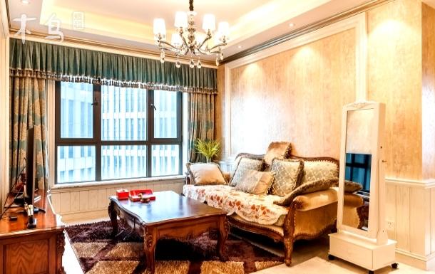 天津摩天轮古文化街意风街轻奢简欧两室套房