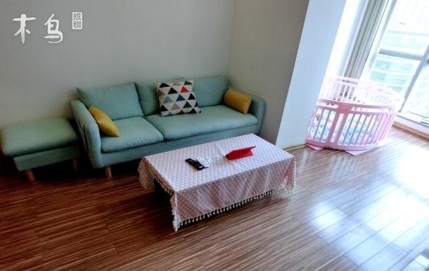 木南玉色3于家堡海河旁阳光海景双大床loft整租家庭房儿童房近极地海洋世界