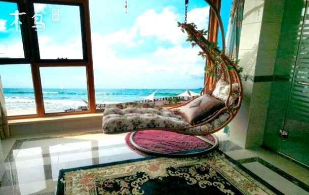 金梦海湾海之恋复式海景距海30米两大床