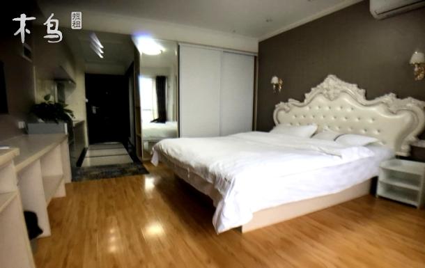 繁华地段精装海景公寓、有冰箱洗衣机、一居室