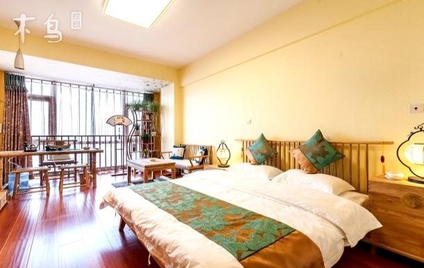 滨海印象新中式大床房