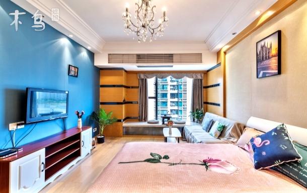 广州塔附近市中心风景飘窗整套公寓