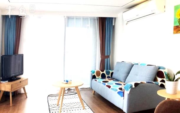 杭州滨江地铁口loft复式阳台三居室1.8米床/近白马湖杭州乐园湘湖天街奈儿堡