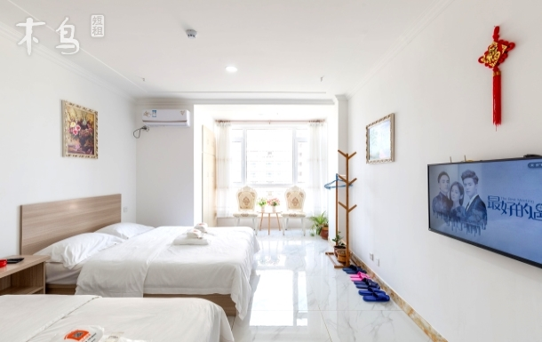 【已供暖】山大/海水浴场/舒适家庭房二床