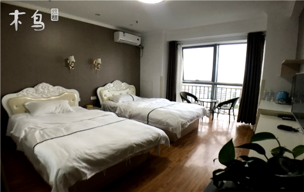 经区繁华地段,韩乐坊商圈,标准双床间