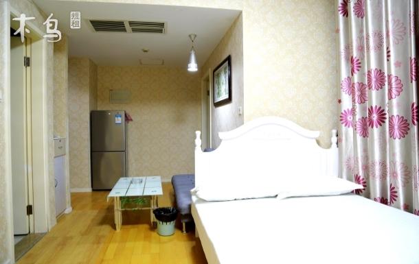天津滨海新区信合温馨简易欧式双床大套公寓