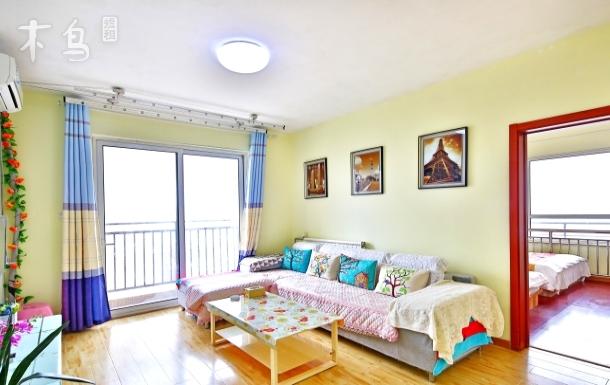 青岛金沙滩海风情公寓海景二居室