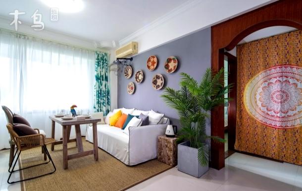 R3三亚大东海旅游区波西米亚风海景三居室