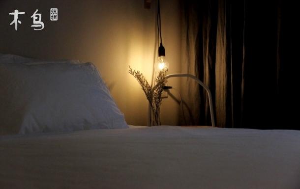 【星居203#大床房】苏州中心东方之门旁金鸡湖,极简精品民宿,智能家居