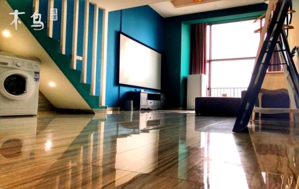 【广州南站长隆精品公寓】北欧风格3D影院聚会双床房
