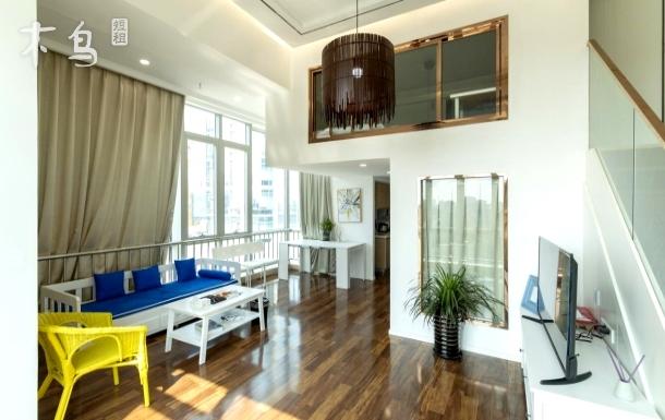 北欧复式,家庭房,地铁六号线,直达后海 两居室