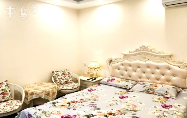 东北大马路国瑞城瑞公馆欧式情侣温馨大床房