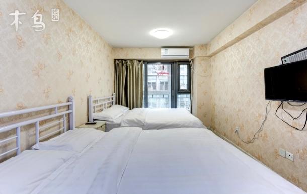 崇文门地铁站 双大床4人温馨公寓