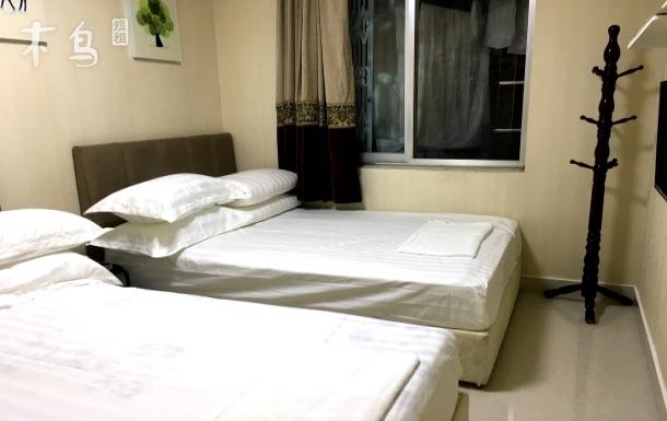 石羊场汽车站附近独立卫生间,双人床