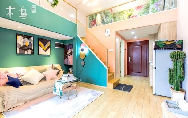 【小乐】loft两居公寓100寸大投影 中心地段 近西湖
