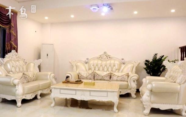 富力泉欧式风情别墅6房10床+KTV豪华包厢+私家泳池+温泉泡池
