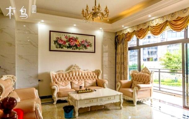 富力泉天下8房13床+配有独+KTV+桌球+温泉池+麻将+厨房厨具+花园+电烤炉