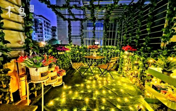 北京路网红风格天台花园三居室温馨小洋房