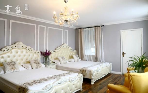 第一海水浴场鲁迅公园德国别墅海景奢华双床房
