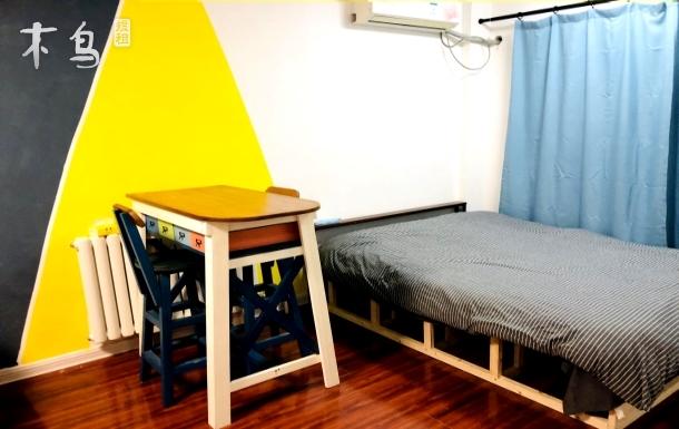 李村商圈 地铁2.3号 五四广场美式设计 一居室