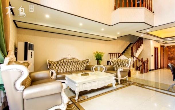 从化芬芳欧式豪华7房12床+烧烤+麻将+私家温泉池