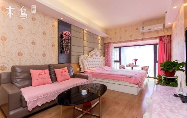 天润广场欧式粉色公主浪漫主题房一居