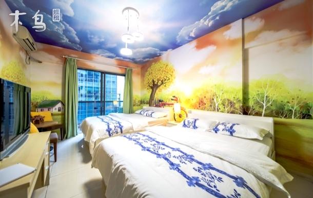 广州塔琶洲展馆海心沙旁阳光主题双床房独立阳台